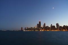 Noite de Chicago Imagem de Stock Royalty Free