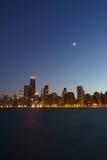 Noite de Chicago Imagem de Stock
