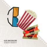 Noite de cinema Imagem de Stock