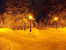 Noite de dezembro em Nizhny Novgorod Imagem de Stock Royalty Free