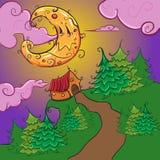 Noite de Dia das Bruxas ilustração stock