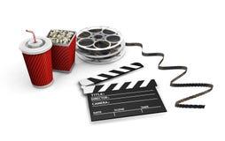 Noite de filme Imagens de Stock Royalty Free