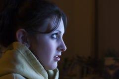 Noite de filme Fotografia de Stock Royalty Free