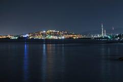 Noite de Flisvos Foto de Stock Royalty Free
