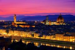 Noite de Florença imagens de stock royalty free