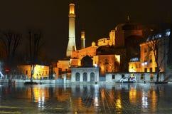Noite de Hagia Sophia Rainy Imagem de Stock