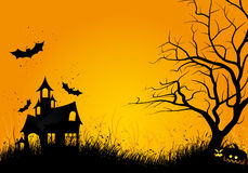 Noite de Halloween Foto de Stock Royalty Free
