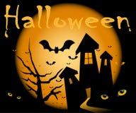 Noite de Halloween. Imagens de Stock Royalty Free