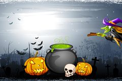 Noite de Halloween Foto de Stock Royalty Free