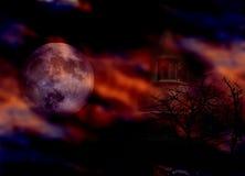 Noite de Halloween Imagens de Stock Royalty Free