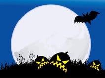 Noite de Halloween com Lua cheia Ilustração do Vetor
