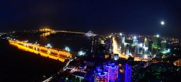 A noite de Harbin Imagens de Stock