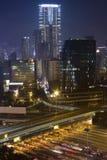 Noite de Hong Kong Fotografia de Stock