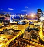 Noite de Hong Kong Imagem de Stock