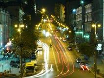 Noite de Kiev Fotografia de Stock