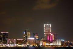 Noite de Kowloon Fotos de Stock Royalty Free