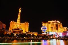 Noite de Las Vegas Foto de Stock Royalty Free