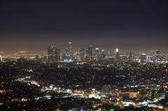 Noite de Los Angeles fotografia de stock