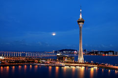 Noite de Macau foto de stock