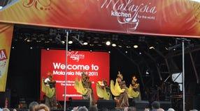 Noite de Malaysia no quadrado de Trafalgar Imagem de Stock Royalty Free