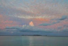 Noite de Maldivas fotos de stock