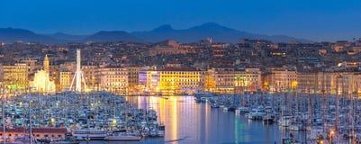 Noite de Marselha França fotos de stock royalty free