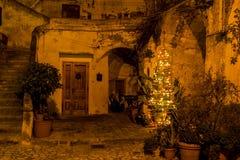 Noite de Matera Fotografia de Stock Royalty Free