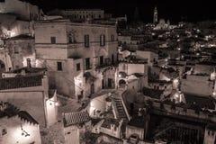 Noite de Matera Fotos de Stock Royalty Free
