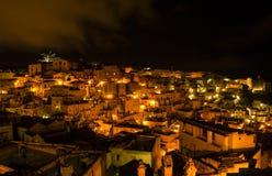 Noite de Matera Imagem de Stock Royalty Free