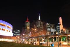 Noite de Melbourne  Fotos de Stock Royalty Free
