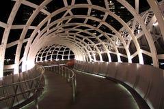 Noite de Melbourne da ponte da Web Foto de Stock Royalty Free