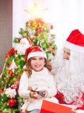 Noite de Natal feliz Fotografia de Stock Royalty Free