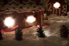 Noite de Natal na vila do mel-cacke Imagem de Stock Royalty Free
