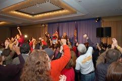 Noite de New-Hampshire 08 da eleição dos EUA Fotos de Stock Royalty Free