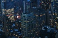 Noite de New York foto de stock royalty free