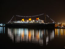 Noite de Queen Mary Imagem de Stock Royalty Free