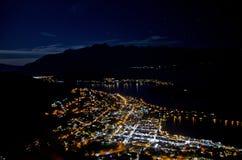 Noite de Queenstown Fotografia de Stock Royalty Free
