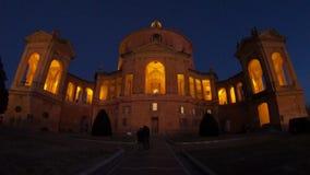 Noite de San Luca do santuário video estoque