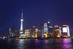 Noite de Shanghai Imagens de Stock