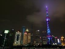 Noite de Shanghai Imagem de Stock