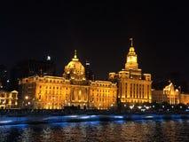 Noite de Shanghai fotos de stock royalty free