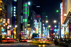 Noite de Tokyo Fotografia de Stock