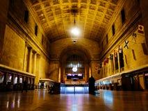 Noite de Toronto da estação da união Fotografia de Stock Royalty Free
