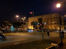 A noite de uma Roma agradável fotografia de stock