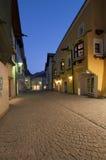 Noite desobstruída na cidade de Sterzing (Italy) imagens de stock