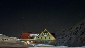 Noite disparada da cabine do lago do balea Imagem de Stock