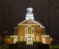 Noite disparada da primeira igreja presbiteriana Imagem de Stock Royalty Free