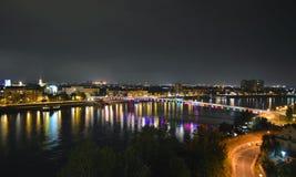 Noite disparada de Novi Sad - Sérvia imagem de stock royalty free
