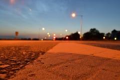 Rua da noite Fotografia de Stock Royalty Free