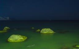 Noite disparada do mar Foto de Stock Royalty Free